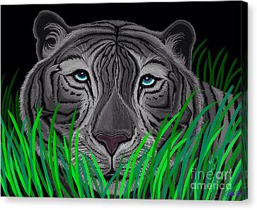 Tiger Canvas Print - Endangered White Tiger by Nick Gustafson