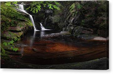 Canvas Print featuring the photograph Enders Falls Spring by Bill Wakeley