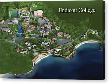 Endicott College Canvas Print by Rhett and Sherry  Erb