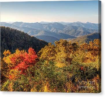 Endless Autumn Mountains Canvas Print by Emily Kay