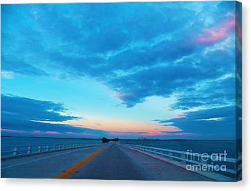 Endless Bridge Canvas Print by Judy Via-Wolff