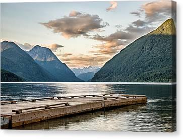 Mountain Reflection Lake Summit Mirror Canvas Print - Endless Lake by James Wheeler