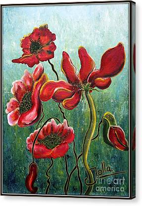 Endless Poppy Love Canvas Print by Jolanta Anna Karolska