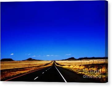 Endless Roads In New Mexico Canvas Print by Susanne Van Hulst