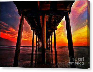 Endless Sunset Canvas Print by Peter Dang