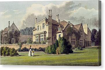 Endsleigh, From Ackermanns Repository Canvas Print by English School