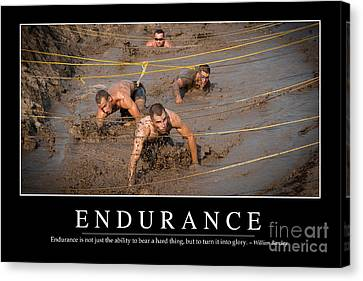 Endurance Inspirational Quote Canvas Print by Stocktrek Images