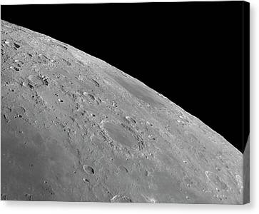 Endymion Crater And Mare Humboldtianum Canvas Print by Damian Peach