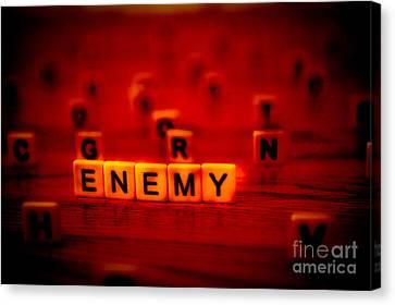 Enemy Canvas Print by Liesl Marelli
