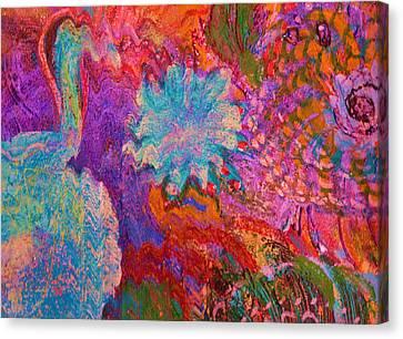 Energy Burst I Canvas Print by Anne-Elizabeth Whiteway