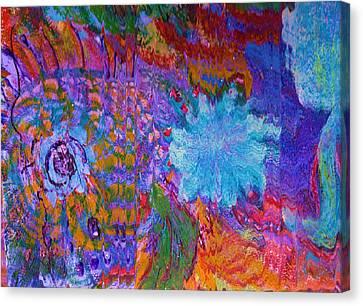 Energy Burst II Canvas Print by Anne-Elizabeth Whiteway