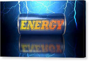 Energy Drink Can Canvas Print by Allan Swart