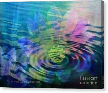 Energy Ripples Canvas Print by PainterArtist FIN