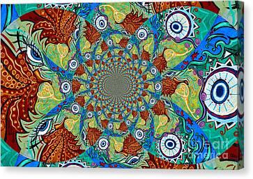 Energy Sprite Kaleidosope Canvas Print by Genevieve Esson