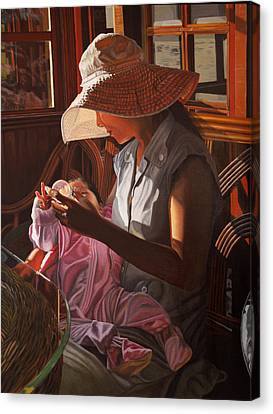 Canvas Print featuring the painting Enfamil At Ha Long Bay Vietnam by Thu Nguyen
