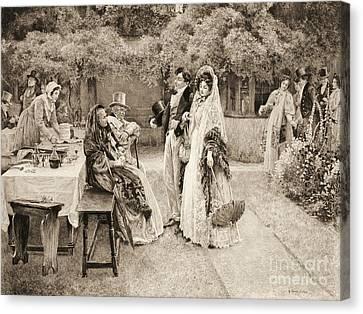 Engagement Announcement 1898 Canvas Print by Padre Art