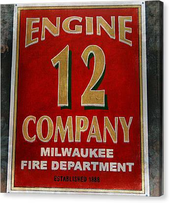 Engine 12 Canvas Print by Susan  McMenamin