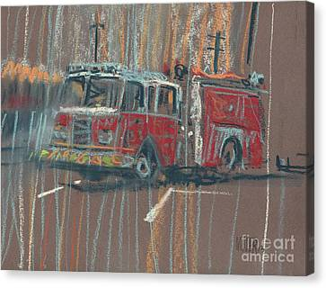 Canvas Print featuring the painting Engine 56 by Donald Maier