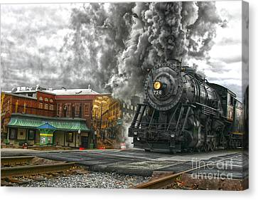 Engine 734 On The Western Maryland Scenic Railroad  Canvas Print
