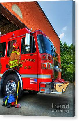 Engine 751 Canvas Print by Mel Steinhauer
