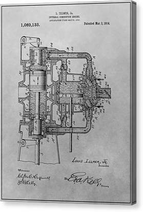 Engine Patent Drawing Canvas Print by Dan Sproul