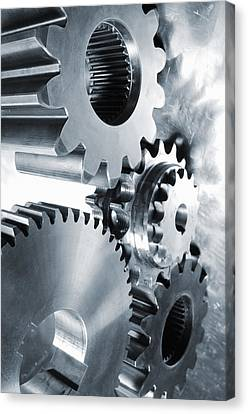Engineering And Technology Gears Canvas Print by Christian Lagereek