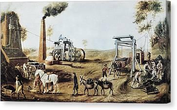England 18th C.. Industrial Revolution Canvas Print by Everett
