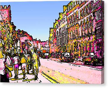 England 1986 Oxford Street Snapshot0145a2 Jgibney The Museum Zazzle Gifts Canvas Print by The MUSEUM Artist Series jGibney