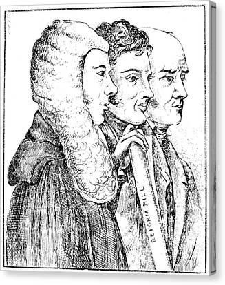 Reform Canvas Print - England Reform Bill, 1832 by Granger