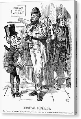 Reform Canvas Print - England Suffrage, 1866 by Granger
