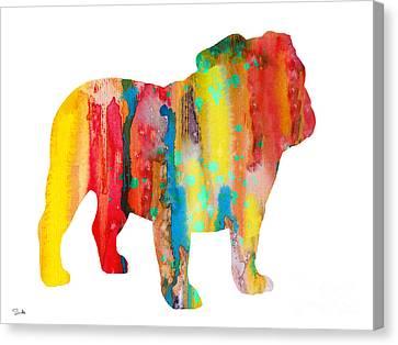 English Bulldog Canvas Print by Luke and Slavi