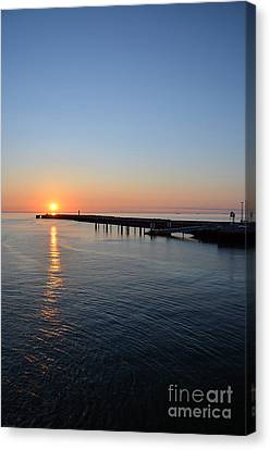 English Channel Sunset Canvas Print