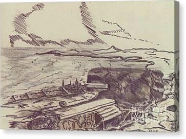Ww Ii Canvas Print - English Channel Ww II by David Neace
