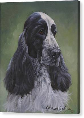 English Cocker Canvas Print by Kathleen  Hill