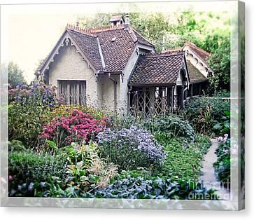 English Cottage Garden Canvas Print by Edward Fielding