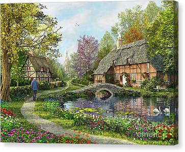 English Cottage Canvas Print by MGL Meiklejohn Graphics Licensing