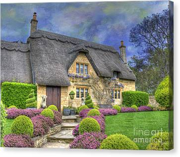 Country Cottage Canvas Print - English Country Cottage by Juli Scalzi