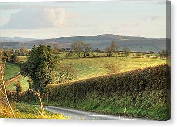 English Countryside In Early Winter Canvas Print