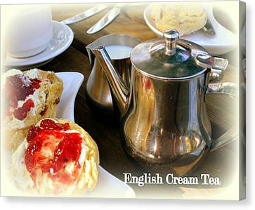 English Cream Tea Canvas Print