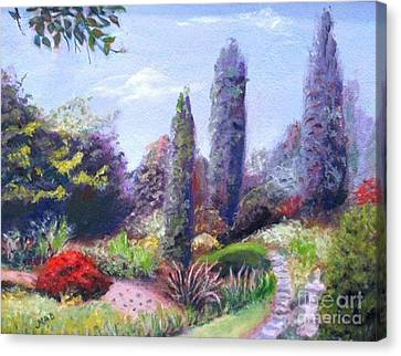 Canvas Print featuring the painting English Estate Gardens by Marcia Dutton