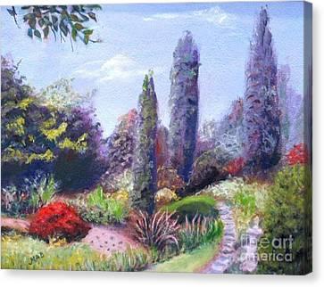 English Estate Gardens Canvas Print by Marcia Dutton