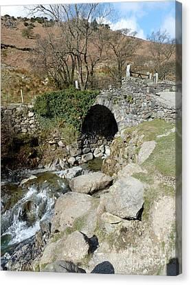 English Lakes And Waterfalls Canvas Print by Julie Koretz