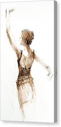 English National Ballet Student Canvas Print by Jackie Simmonds