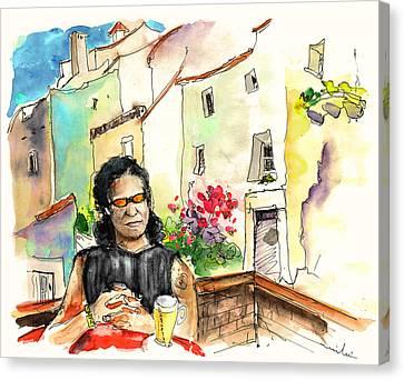 English Rocker In Castelo De Vide In Portugal Canvas Print by Miki De Goodaboom