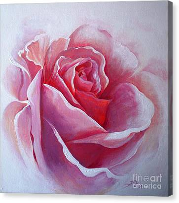 Canvas Print featuring the painting English Rose by Sandra Phryce-Jones