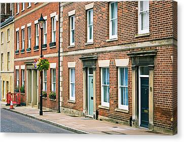 English Town Houses Canvas Print by Tom Gowanlock