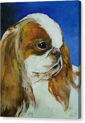 Michael Canvas Print - English Toy Spaniel by Michael Creese