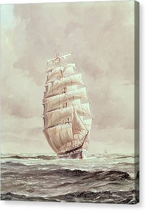 Water Vessels Canvas Print - English Wool Clipper by Anonymous