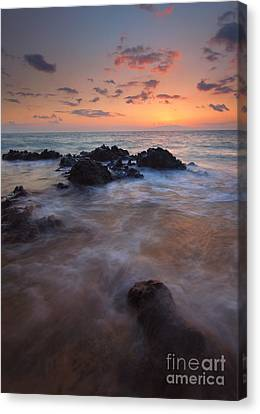 Engulfed By The Waves Canvas Print by Mike  Dawson