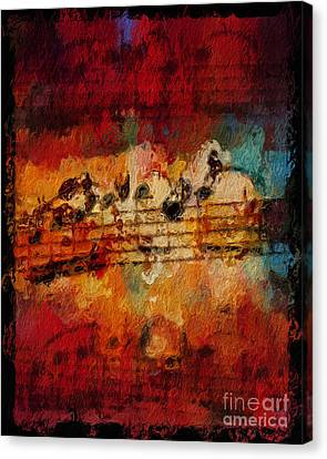 Canvas Print featuring the digital art Engulfed by Lon Chaffin